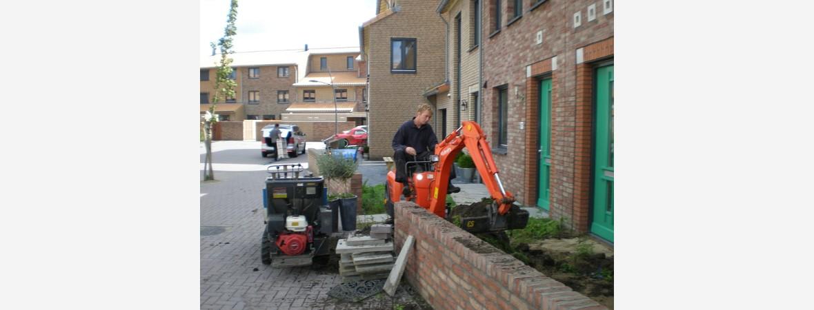 Afgraven tuin in Assendelft