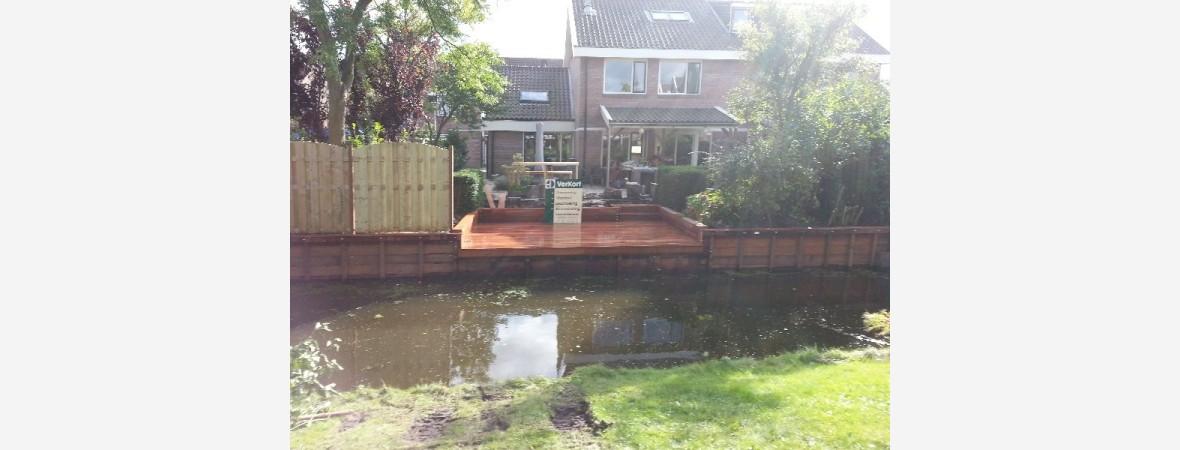 Vlonder, beschoeiing en schutting plaatsing in Zaandam