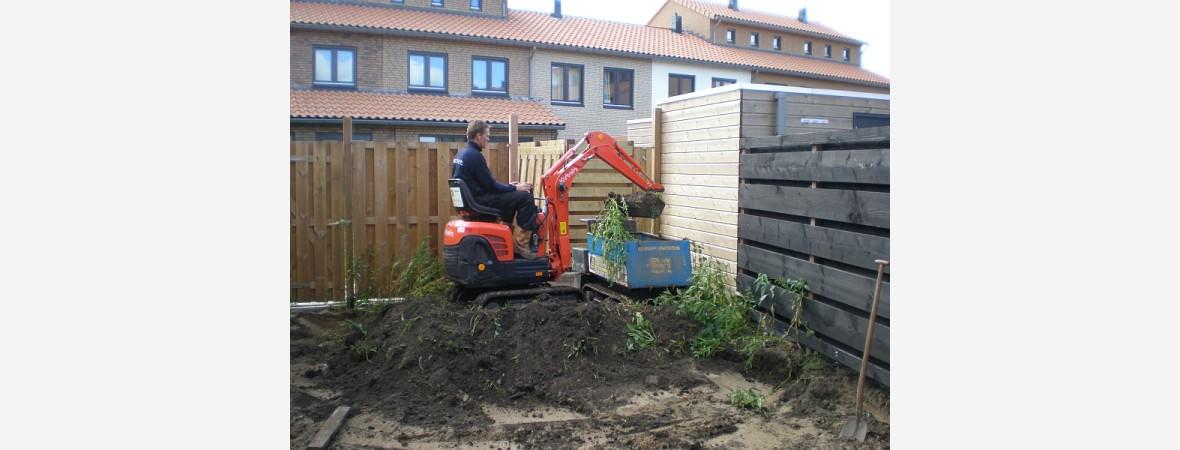 Tuin afgraven in Assendelft
